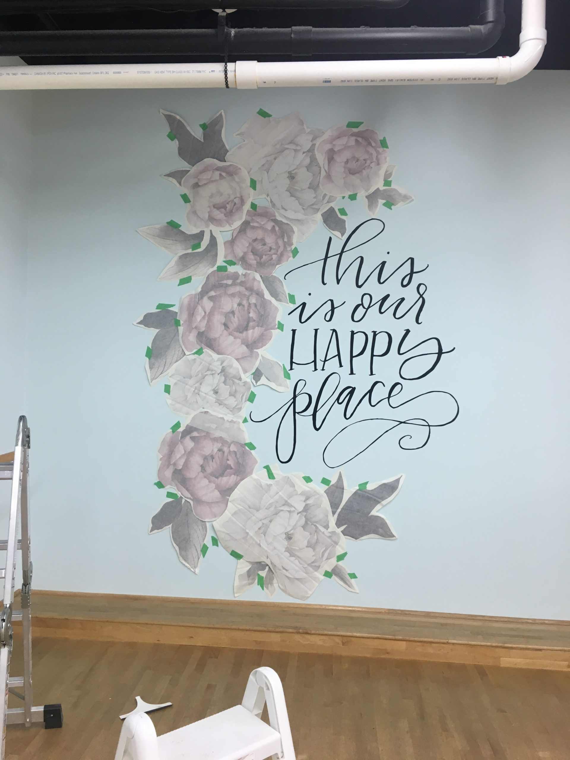 this is your happy place decal on wall