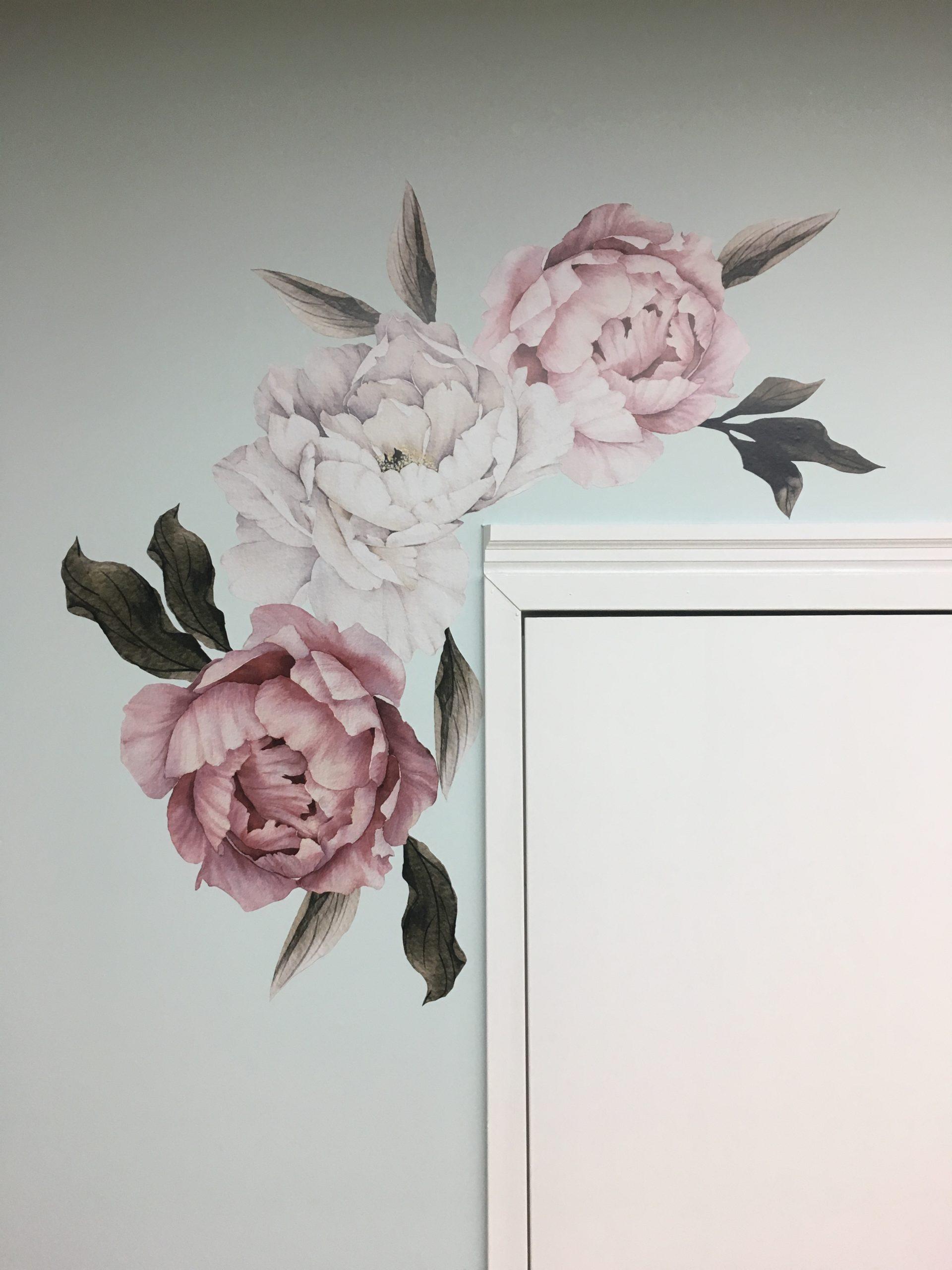 floral decal around doorway